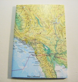 LOS ANGELES Amerika ♥ schönes Notizbuch Landkarte *upcycling*