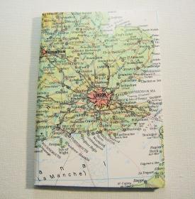 LONDON England ♥ schönes Notizbuch Landkarte *upcycling*