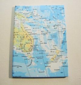 AUSTRALIEN mit Neuseeland ♥ schönes Notizbuch Landkarte *upcycling*