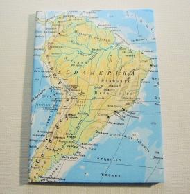 SÜDAMERIKA ♥ schönes Notizbuch Landkarte *upcycling*