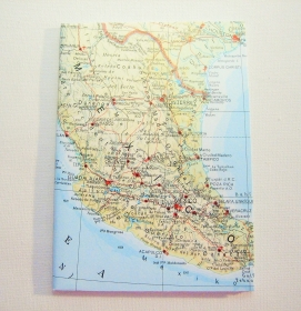 MEXICO ♥ schönes Notizbuch Landkarte *upcycling* - Handarbeit kaufen