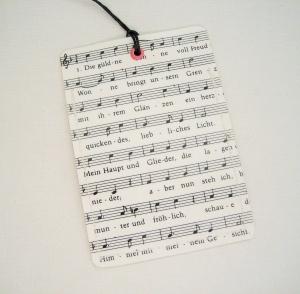Kofferanhänger NOTEN ♥ Musik ♫ ♪ *upcycling* - Handarbeit kaufen