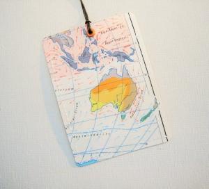 Kofferanhänger AUSTRALIEN ♥ Sydney Landkarte *upcycling* - Handarbeit kaufen