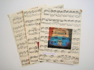 3er-Set Geschenktüte NOTEN ♥  *upcycling* ♫ ♪ Musik
