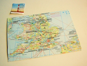 Tolle Postkarte LONDON ♥ England *upcycling pur*