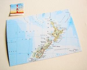 Tolle Postkarte NEUSEELAND ♥  Auckland *upcycling pur* - Handarbeit kaufen