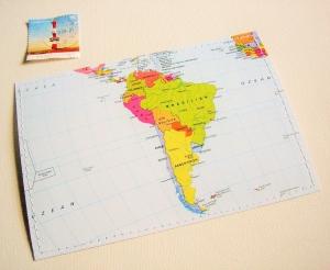 Tolle Postkarte SÜDAMERIKA ♥  Brasilien *upcycling pur*