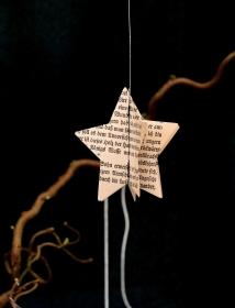 PAPIERSTERN Schrift *upcycling* ♥ Weihnachten 1er-Pack - Handarbeit kaufen