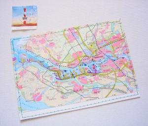 Tolle Postkarte ROTTERDAM ♥ Niederlande *upcycling pur* - Handarbeit kaufen