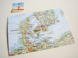 Tolle Postkarte DÄNEMARK ♥ Kopenhagen *upcycling pur*