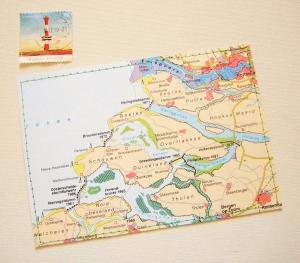Tolle Postkarte NIEDERLANDE  ♥ Zeeland *upcycling pur* - Handarbeit kaufen