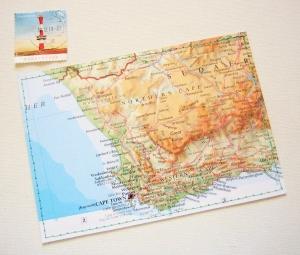 Tolle Postkarte SÜDAFRIKA  ♥ Kapstadt *upcycling pur* - Handarbeit kaufen