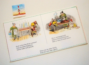 Tolle Postkarte Comic ♥ MAX und MORITZ *upcycling pur* DIN lang