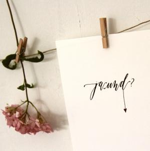 ja und? postkarte.