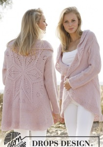 Handgestrickte Jacke, individuelle Anfertigung, Größe und Farbe wählbar, Wolle-Mohair-Seide - Handarbeit kaufen
