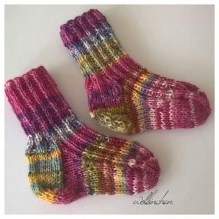 Baby Socken - Handgestrickt - Wolle - Gr.:15-17