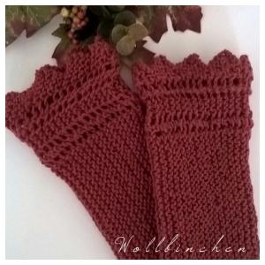 Pulswärmer--Farbe Rost--Wolle - Handarbeit kaufen