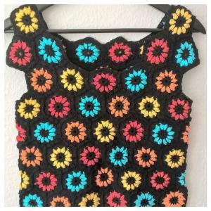 Top--Gehäkelt--Gr.: 36--Baumwolle--Patchwork - Handarbeit kaufen