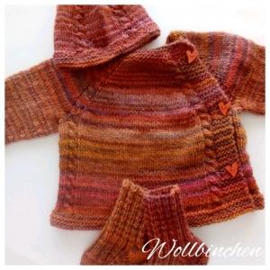 Baby Set--Pullover, Mütze & Socken-- Gr.: 62