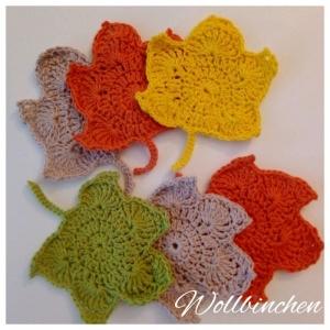 Set Untersetzer--6 teilig--Bunt--Baumwolle - Handarbeit kaufen
