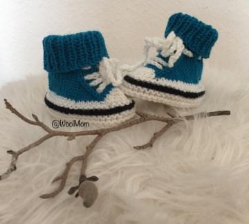 Sternchen's erster Turnschuh' aus  100% Baby Merinowolle