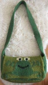 Filztasche ♡ kleiner Frosch ♡  aus 100% Wolle Jede Tasche ein ♡  Unikat ♡