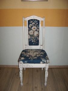 Antiker Stuhl aus der Gründerzeit (königsblau)
