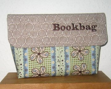 Büchertasche für Taschenbücher, Unikat aus Baumwollstoffen