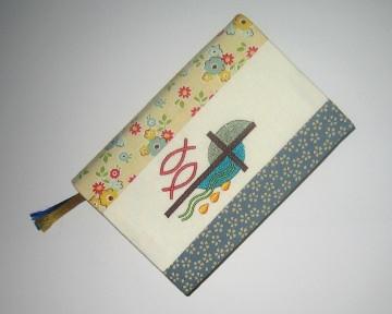 Umschlag für das Gotteslob, Unikat aus Baumwollstoffen mit Stickerei (Kopie id: 100038055) (Kopie id: 100135127)