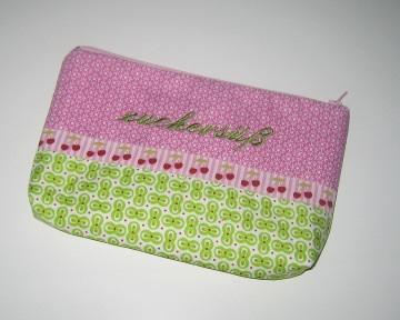 zuckersüß-Etui, Unikat aus hochwertigen Baumwollsoffen mit Innenfutter und Reißverschluss - Handarbeit kaufen