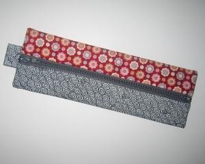 Reißverschluss-Etui im schmalen Längsformat für die kleine Auswahl an Stiften, praktisches Handtaschenformat mit 2 schönen Seiten