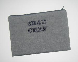 2RAD CHEF-Etui, Unikat aus hochwertigen Baumwollstoffen mit Innenfutter und Reißverschluss   - Handarbeit kaufen