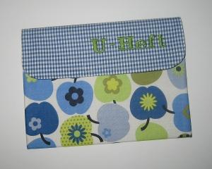 U-Heft-Etui der grüne Apfel, Unikat für U-Heft, Impfpass, Rezepte, Terminzettel und Infomaterial         - Handarbeit kaufen