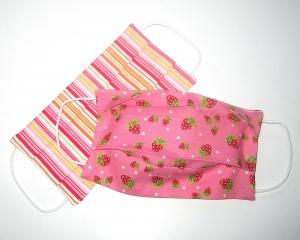 2er-SET Mundmaske KLEIN!!!  aus Stoff 100%Baumwolle, doppellagig        - Handarbeit kaufen