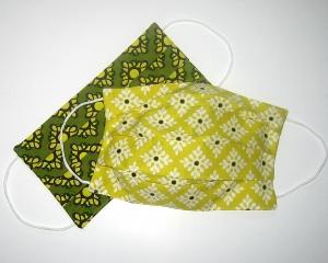 2er-SET Mundmaske aus Stoff 100%Baumwolle, doppellagig      - Handarbeit kaufen