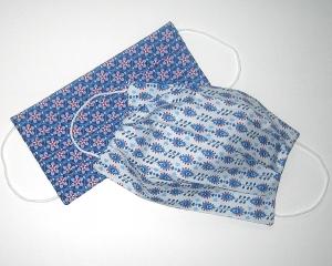 2er-SET Mundmaske aus Stoff 100%Baumwolle, doppellagig