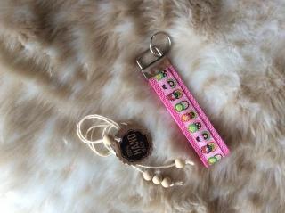 """Schlüsselband """"MATRIOSCHKA"""" in rosa"""