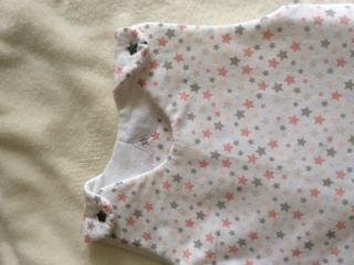 Winterschlafsack Gr.80 graue und rosa Sterne