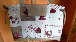 Schultertasche, Handtasche, Tasche, Landhaus-Stil