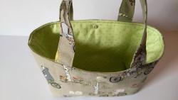 Kindertasche aus Baumwollstoff genäht