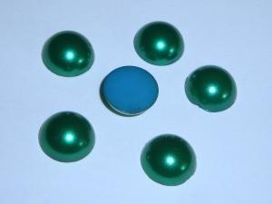 6 Acryl-Cabochons, 12mm, grün