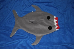 Baby Pucksack Schlafsack Hai Strampelsack Gr. 50/56 shark sleepingbag - Handarbeit kaufen