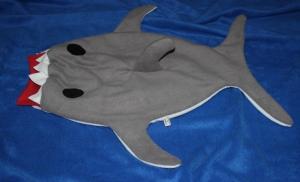 Baby Pucksack Schlafsack Hai Strampelsack Gr. 74/80 shark sleepingbag - Handarbeit kaufen