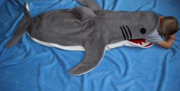 Kinder Schlafsack Hai Strampelsack shark puck bag sleeping bag children - Handarbeit kaufen