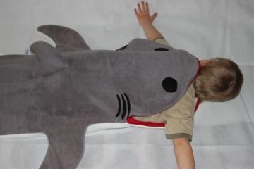 Kinder Schlafsack Hai Strampelsack shark puck bag sleeping bag children  - Handarbeit kaufen