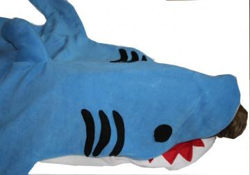 Schlafsack Hai für Erwachsene shark bag sleeping bag adults - Handarbeit kaufen