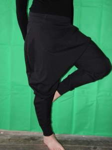 schwarze Haremshose Pumphose Sarouel Baggy Hose Goa harem pants - Handarbeit kaufen