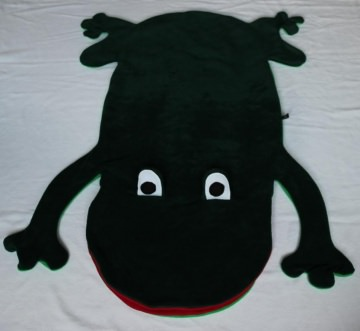 Frosch Kinder Schlafsack Laubfrosch Strampelsack Gr.2 - Handarbeit kaufen
