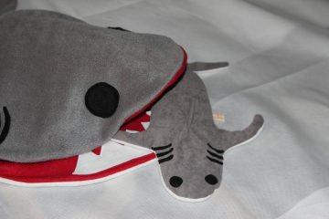 Hai Wärmekissen Körnerkissen Hai Weizen Kissen - Handarbeit kaufen