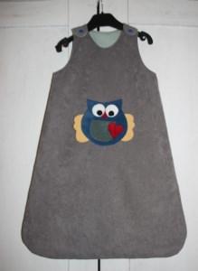 Schlafsack Eule Strampelsack Baby Pucksack Babyschlafsack sleeping bag - Handarbeit kaufen